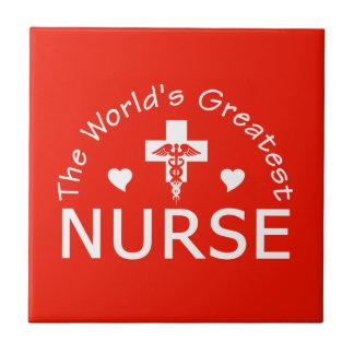 Greatest Nurse tile, customizable Tile
