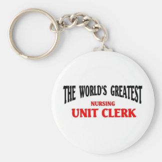 Greatest Nursing Unit Clerk Basic Round Button Keychain