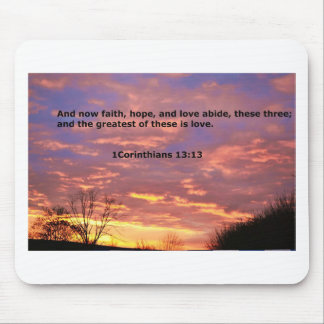 Greatest of these is love bible verse mouse pad