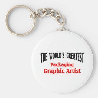 Greatest Packaging Graphic Artist Basic Round Button Keychain