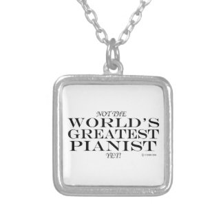 Greatest Pianist Yet Personalized Necklace