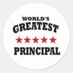 Greatest Principal Classic Round Sticker
