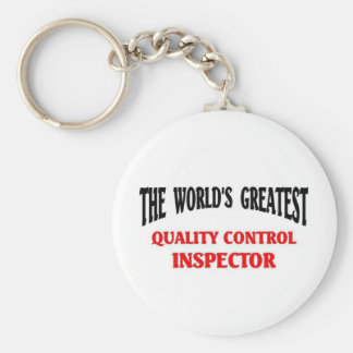 Greatest Quality Control Inspector Basic Round Button Keychain