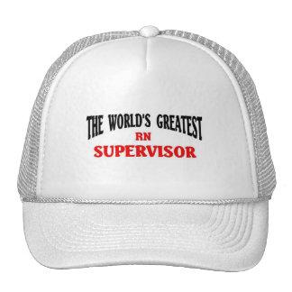 Greatest RN Supervisor Trucker Hats