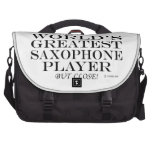 Greatest Saxophone Player Close Bag For Laptop
