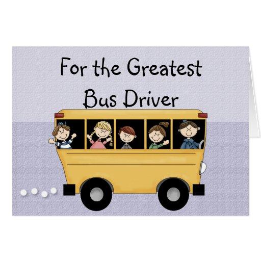 greatest school bus driver customizable card. Black Bedroom Furniture Sets. Home Design Ideas