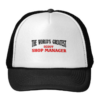 Greatest Scout Shop Manager Hats
