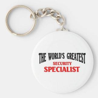 Greatest Security Specialist Basic Round Button Keychain