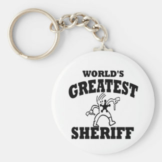 Greatest Sheriff Keychain