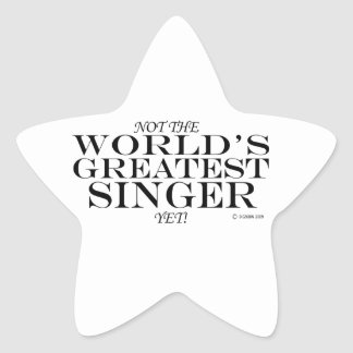 Greatest Singer Yet Star Sticker
