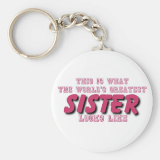 Greatest sister key chains