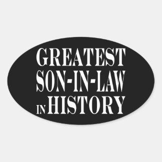 Greatest Son in Law in History Oval Sticker
