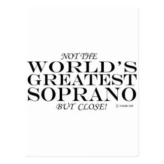 Greatest Soprano Close Postcards