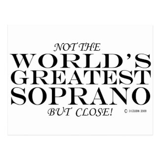 Greatest Soprano Close Postcard