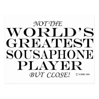 Greatest Sousaphone Player Close Postcard