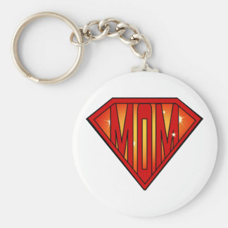 Greatest Super Mom Keychain