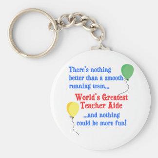 Greatest Teacher Aide Key Chain