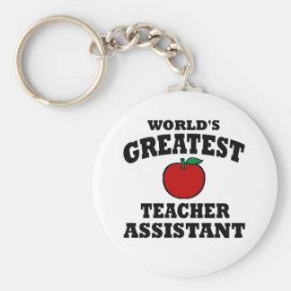 Greatest Teacher Assistant Keychain