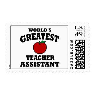 Greatest Teacher Assistant Postage Stamp