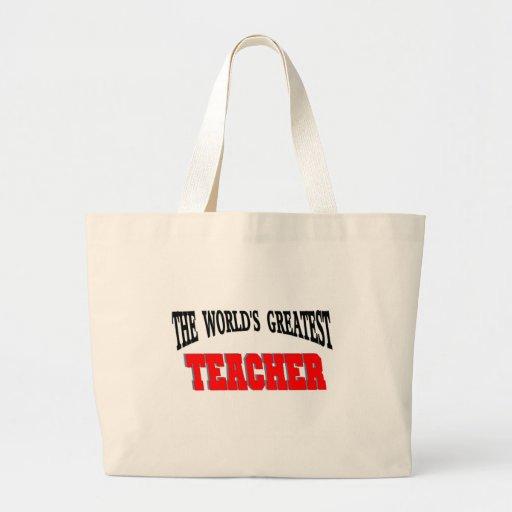 Greatest teacher canvas bag