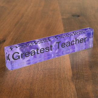 Greatest Teacher Name Plate