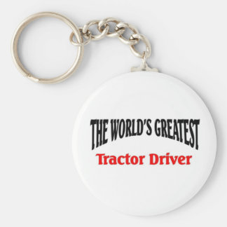 Greatest Tractor Driver Keychain