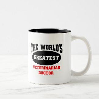 Greatest Veterinarian Doctor Two-Tone Coffee Mug