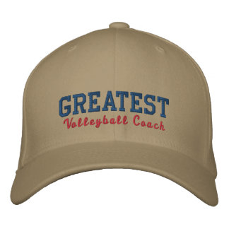 Greatest Volleyball Coach Embroidered Baseball Hat