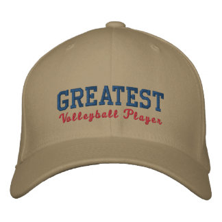 Greatest Volleyball Player Embroidered Baseball Cap