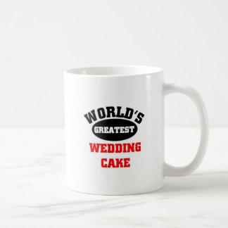 Greatest wedding cake coffee mugs