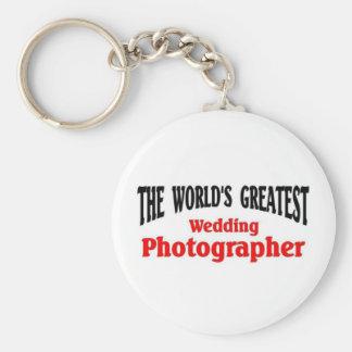 Greatest wedding photographer key chain