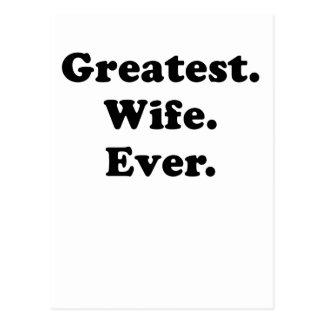 Greatest Wife Ever Postcard