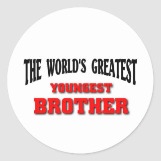 Greatest Youngest Brother Classic Round Sticker