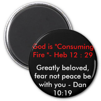 Greatly beloved, fear not peace be with you ... magnet