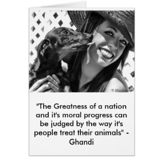 Greatness of a nation card