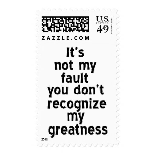 Greatness Postage Stamp