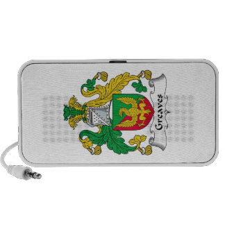 Greaves Family Crest Portable Speakers