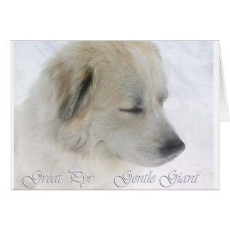 Greay Pyrenees, gentle giant Greeting Card