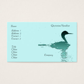Grebe Bird Wildlife Animal Coast Wetlands Business Card