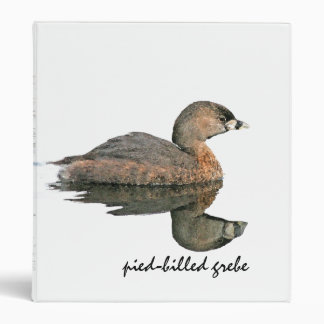 Grebe Birds Wildlife Animals Photography Binder