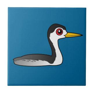 Grebe de Birdorable Clark Azulejo Cuadrado Pequeño
