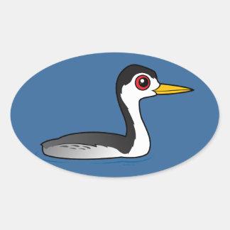 Grebe de Birdorable Clark Pegatina Ovalada