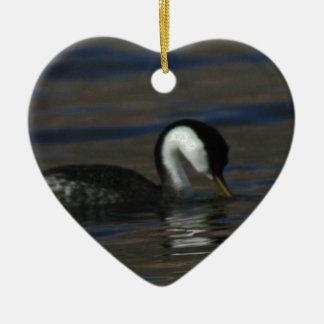 Grebe de consumición adorno navideño de cerámica en forma de corazón