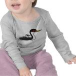 Grebe occidental de Birdorable con el bebé Camisetas
