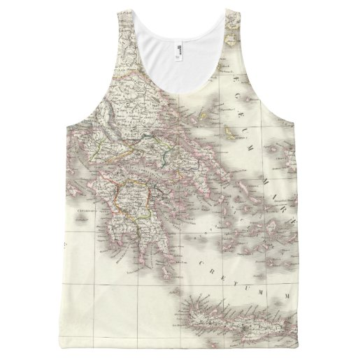 Grece ancienne - Ancient Greece All-Over Print Tank Top Tank Tops, Tanktops Shirts