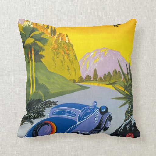 Grece retro travel pillow
