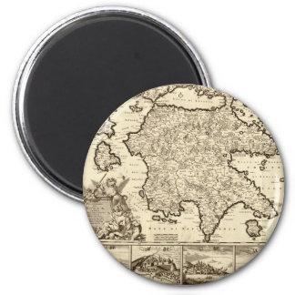 Grecia 1688/mapa peloponense griego imanes