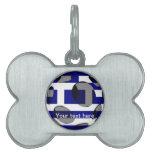 Grecia #1 placa de nombre de mascota
