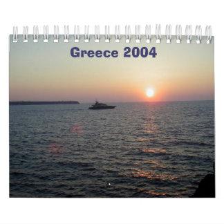 Grecia 2004 calendarios de pared