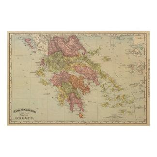 Grecia 4 impresión en madera